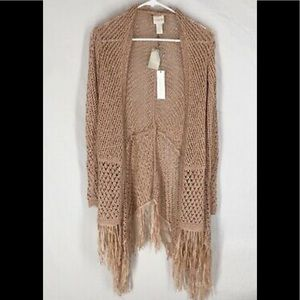 Chico's black label fringe duster